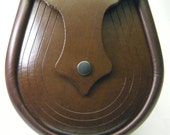Handmade Brown Leather Lucky Horse Shoe Sporran, Ness