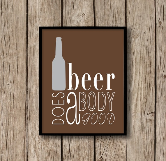 Beer Wall Art Beer Poster Beer Bottle Decor Beer Sign