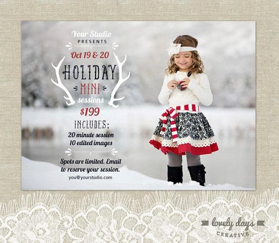 Hoilday mini christmas mini session template for photographers for Free mini session templates for photography