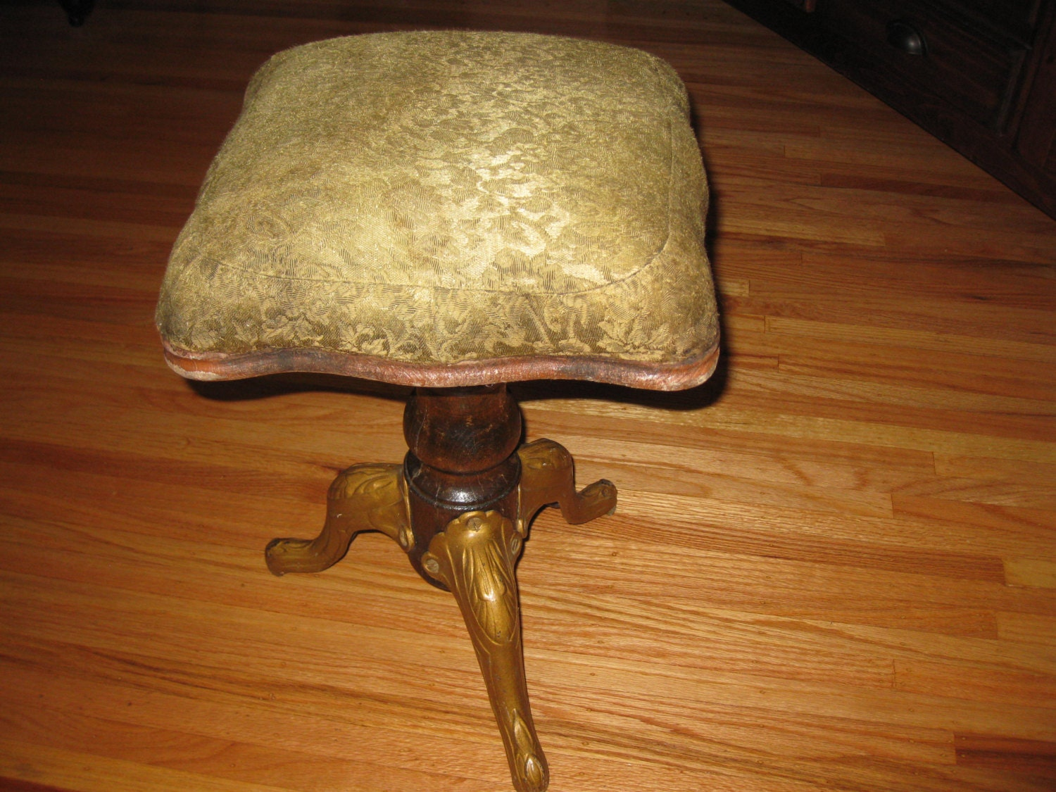 Swivel Piano Stool Antique From The 1800 S Cast Iron