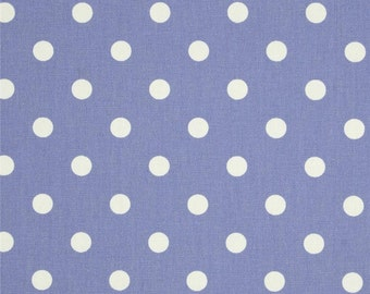 Handmade Curtain Valance, 50W x 15L, in Lavender/White Polka Dot Print,Home Decor,Nursery