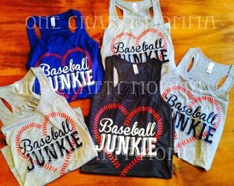 Baseball Junkie Racer back Tank