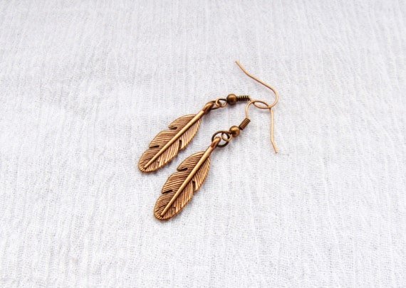 brass earrings, dangle earrings