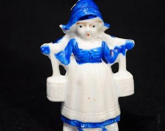 Vintage Ceramic Dutch Girl Carrying Water
