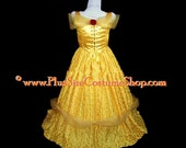 BELLE Yellow Gold Ball Gown BEAUTY and the BEAST Plus Size Halloween Costume Adult Womens 1X 2X 3X 4X 5X - 2 pcs New