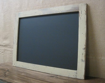 Extra Large Framed Chalkboard made from Reclaimed Wood Shown in Cream 30 x 40 *MORE COLORS AVAILABLE*