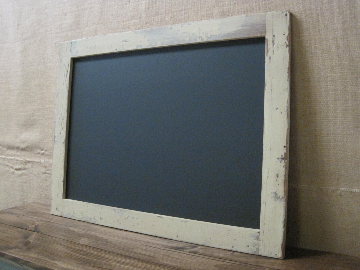 extra large framed chalkboard made from reclaimed by On large framed chalkboard