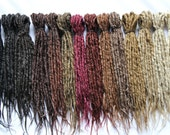 Synthetics Dreads Double Ended Natural looking - Sold by 10 - NATURAL COLOR-  19-21 inches LONG - Medium thickness