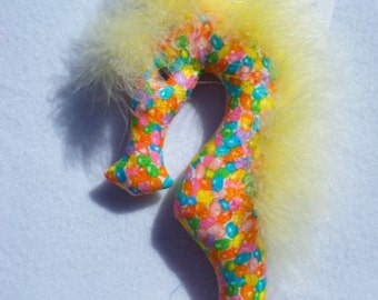 Easter, seahorse, jelly beans, polka dot seahorse, decoration, ornament, toy