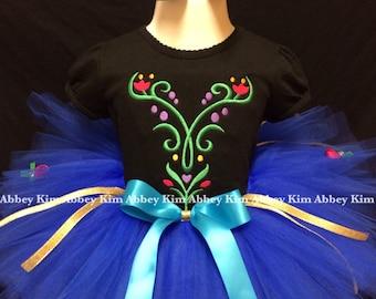 Frozen tutu set Anna black T shirt Floral