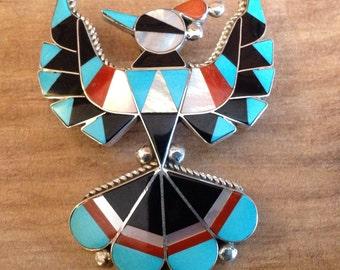 Southwestern Thunderbird Pin And Pendant