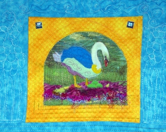 Art Quilt Sister Swan