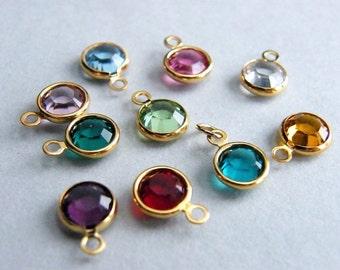 Swarovski Charm on Gold Filled Jump Ring, Swarovski Crystal Add On, Design Your Own Necklace