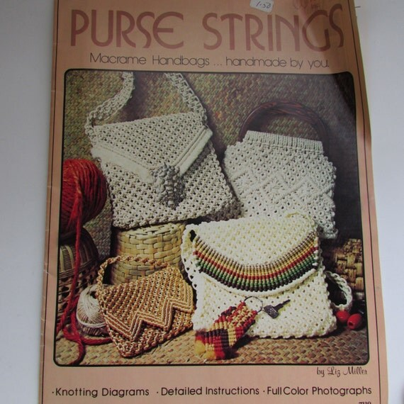 Macrame Book Purse Strings Macrame Handbag Pattern By
