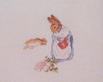 beatrix potter mrs rabbit cross stitch CHART INSTRUCTIONS ONLY lakeland artist new
