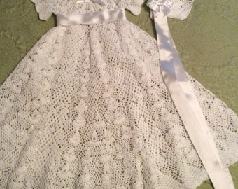 Heirloom Vintage style Christening gown crochet pattern, blessing pattern, baptismal pattern, pattern