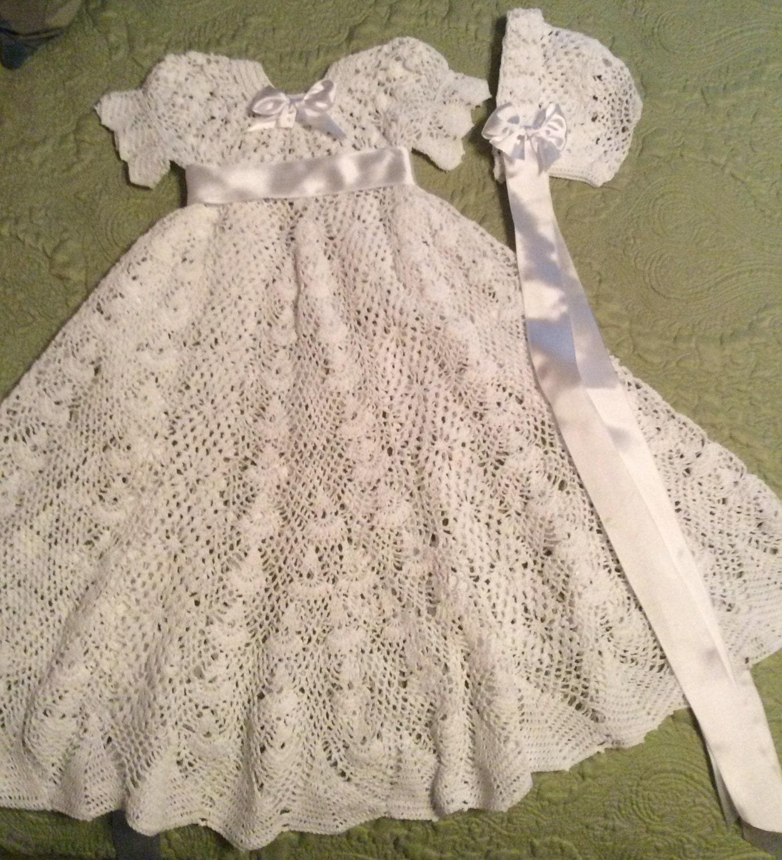 Crochet Pattern For Christening Gown : Heirloom Vintage style Christening gown crochet pattern