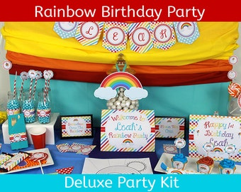 Rainbow Birthday Party | Rainbow Party |  Rainbow Birthday Party Decorations | DELUXE