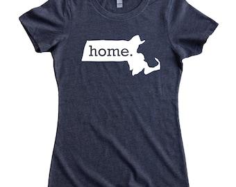 Homeland Tees Massachusetts Home State Women's T-Shirt