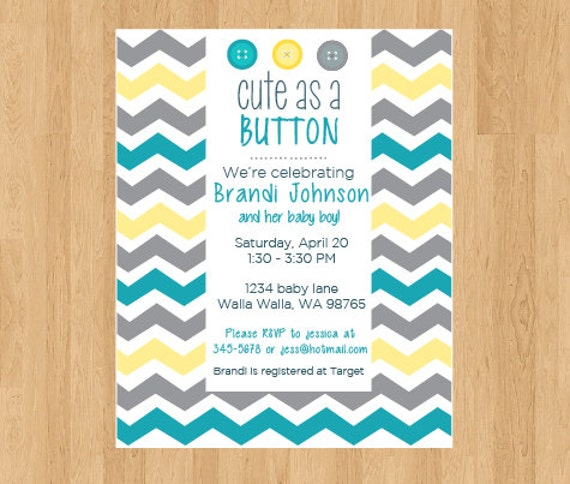baby shower invitation cute as a button baby shower invitation baby