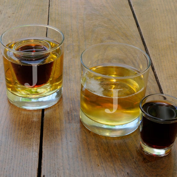 Items similar to personalized jager bomb shot glass set for Cocktail jager