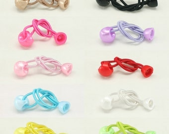 10 pcs of elastic Ponytail Holder with Ball and Half Cap Elastic Ponytail Holders Hair accessories Wholesale lots Elastic Hair Ties AM 12