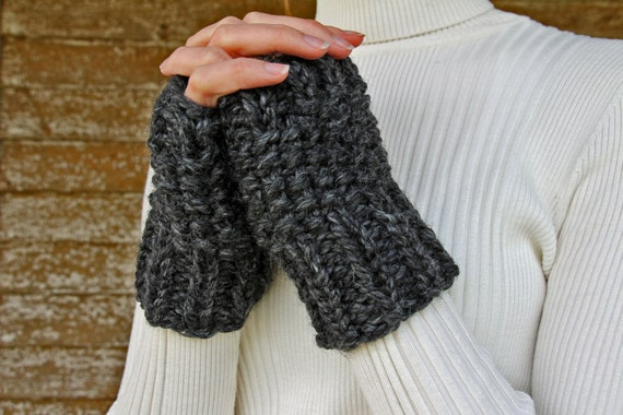 Really Easy Fingerless Gloves Knitting Pattern : DETERMINATION Fingerless Gloves Knitting Pattern by bromefields