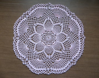 Pink Pineaples and Fans Doily