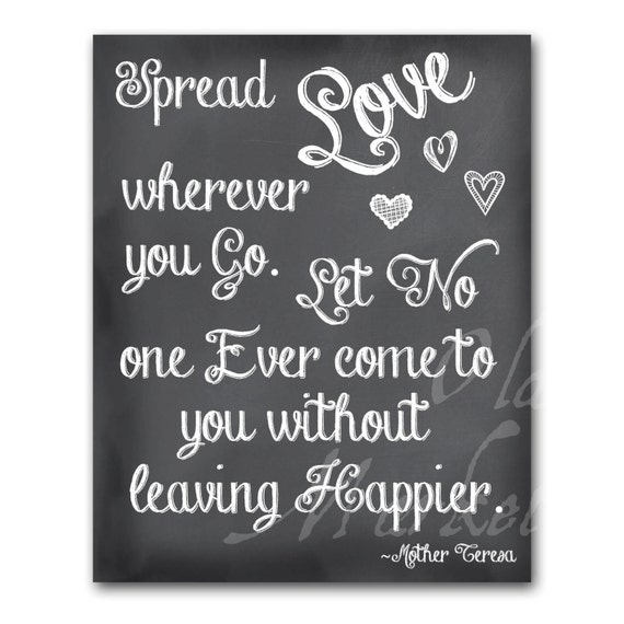 Spread Love Quotes: Items Similar To Spread Love