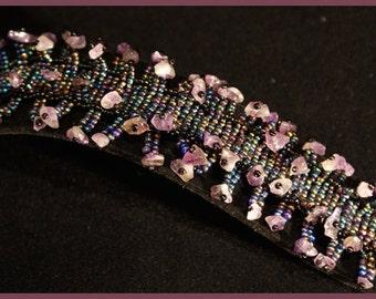 Iris Purple & Amethyst 'Sea Urchin' Bracelet
