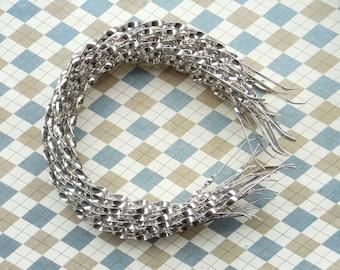 10pcs 4mm Silver Metal twist Headbands, curly headbands,fried dough twist headbands with end. headbands DIY