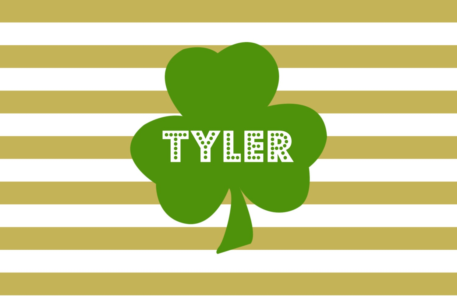 personalized placemat st patrick 39 s day shamrock 12x18