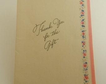 Vintage Unused Thank You Card
