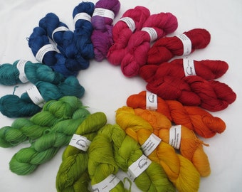100 g hand dyed Alpaca yarn, baby lamb, color of your choice