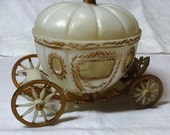 Vintage 1960s Cinderella Birthday Cake Decoration Set with Carriage, Horses, Footman, & Prince