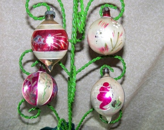 Vintage Christmas  ornaments 1940-1950