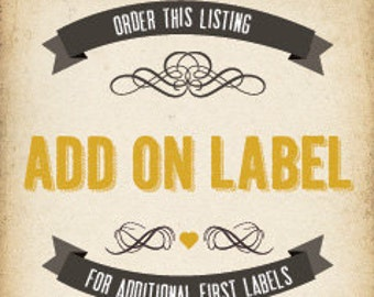 Add on 'First' label
