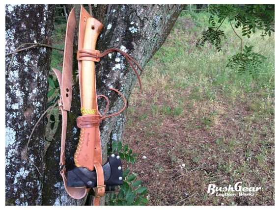Leather Axe Shoulder Strap / Carry sling system
