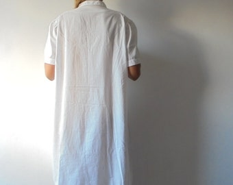 Vintage White Cotton Camisole.Women  Camisole.High Quality Camisole.Cotton Nightgown.