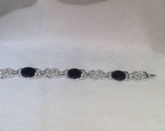 Black and Pearl Vintage Bracelet