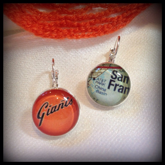 San francisco giants handmade earrings att by finderskeepers75 for San francisco handmade jewelry