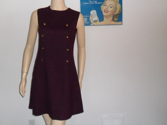 Vintage 60s Purple Scooter Dress