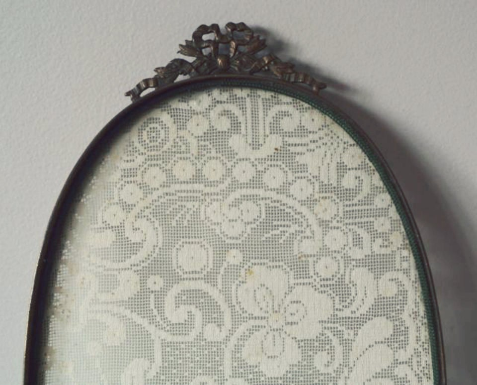 Victorian Era Oval Glass Amp Lace Vanity Tray Antique Dresser