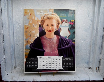 July 1959. Calendar  Page. Victor Keppler Photo. Commercial Lithograph Photography. LARGE 16 x 20 Calendar