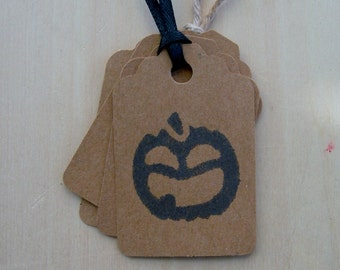 Country Rustic Hang Tag Gift tag Craft supply Halloween Jack O Lantern Kraft Cardstock 25 Tags
