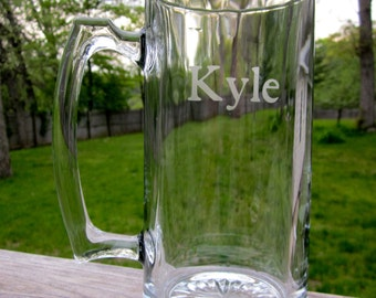 Personalized Etched Beer Mug- Great Gift for Groomsman