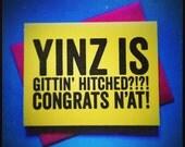Pittsburgh Yinzer Wedding Card