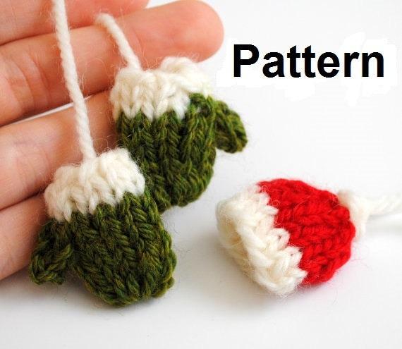 Knitting Pattern For Mini Mittens : Knit Mini-Hat & Mini-Mittens Pattern by TheKnittingHour on Etsy
