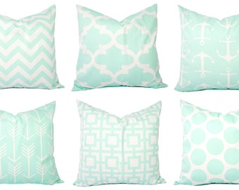 Mint Pillow Covers - Mint Throw Pillows - 20 x 20 Inch Pillow Covers - Mint Decorative Pillows - Mint Accent Pillow - Nursery Pillows
