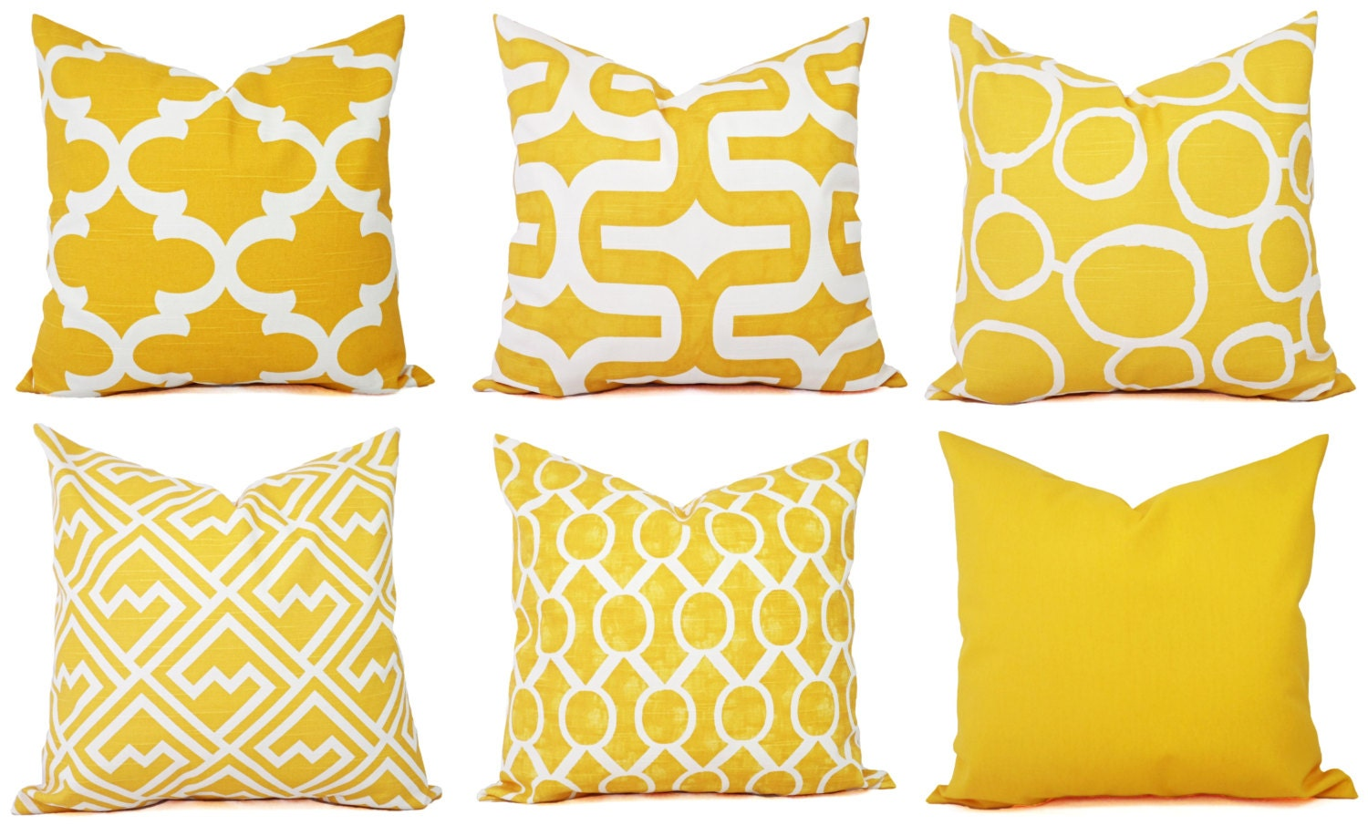 Throw Pillow Covers Yellow : One Yellow Throw Pillow Cover Yellow by CastawayCoveDecor on Etsy